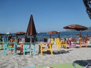 Farniente sur une plage en Balagne